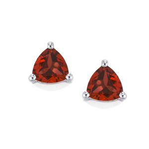 Garnet Earrings in Sterling Silver 1.10cts
