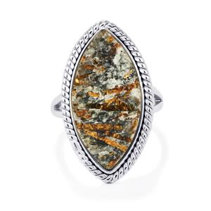 Astrophyllite Drusy Ring in Sterling Silver 15cts