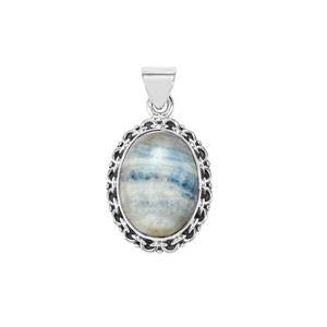Blue Dolomite Pendant  in Sterling Silver 15cts