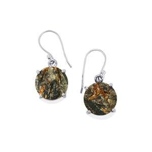 Astrophyllite Drusy Earrings in Sterling Silver 21cts