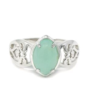 Szklary Chrysoprase Ring in Sterling Silver 2.13cts