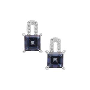 Hope Topaz Earrings with White Zircon in Sterling Silver 2.80cts