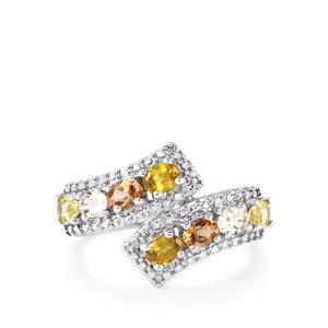 1.39ct Kaleidoscope Gemstones Sterling Silver Ring
