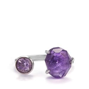 Amethyst Ring  in Sterling Silver 5.45cts