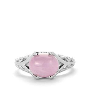 3.23ct Nuristan Kunzite Sterling Silver Ring