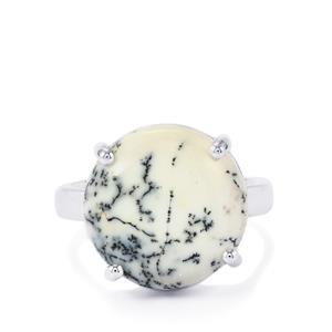 10.36ct Siberian Dendrite Quartz Sterling Silver Ring
