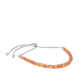 Padparadscha Sapphire Bracelet in Sterling Silver 10.25cts