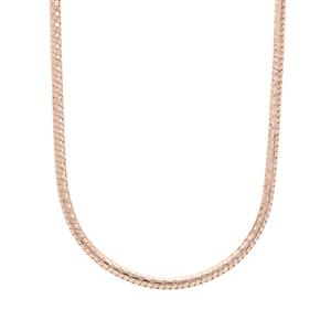 "24"" Rose Midas Tempo Diamond Cut Snake Slider Chain 4.43g"