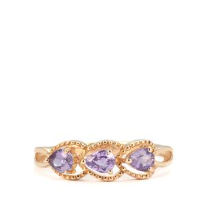 Natural Purple Sapphire Ring in 10k Gold 0.73cts