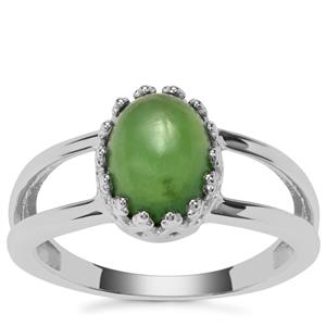 Serpentine Ring in Sterling Silver 2.07cts