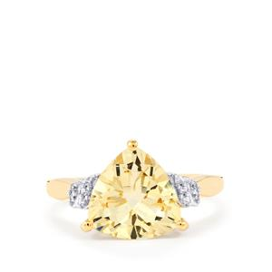 Serenite Ring with White Zircon in 10k Gold 3cts