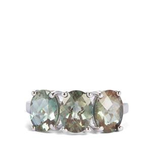 Colour Change Andesine Ring in Sterling Silver 3.25cts