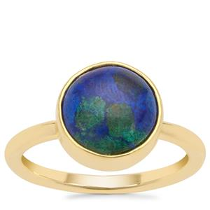 Azure Malachite Ring in Gold Plated Sterling Silver 4.22cts