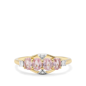 Andhra Pradesh Spinel & White Zircon 9K Gold Ring ATGW 1.01cts