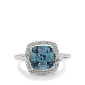 Versailles Topaz Ring with White Zircon in Sterling Silver 3.90cts