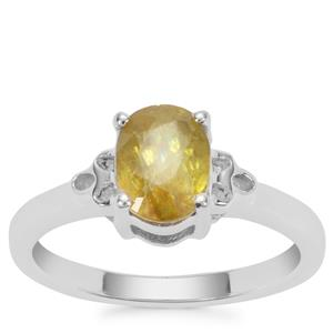 Ambilobe Sphene Ring  in Sterling Silver 1.47cts