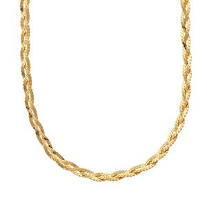 "36"" Midas Dettaglio Diamond Cut Braided Serpentina Chain 4.96g"