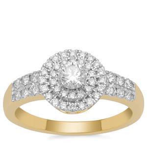 Diamond Ring in 18K Gold  0.72ct