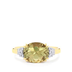 Csarite® Ring with Diamond in 18k Gold 3.24cts