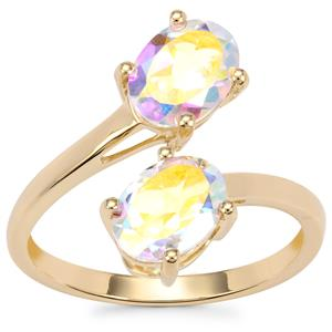 Mercury Mystic Topaz Ring in 10K Gold 2.88cts