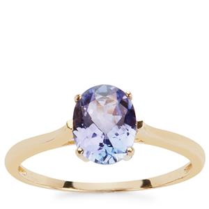 Tanzanite Ring in 9K Gold 1.30cts