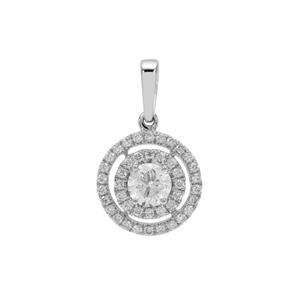 Diamond Pendant in Platinum 950 0.78ct