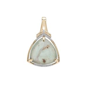 Aquaprase™ Pendant with White Zircon in 9K Gold 8.67cts