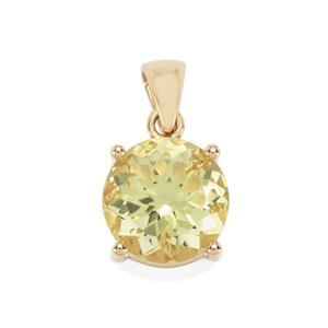 Chartreuse Sanidine Pendant in 9K Gold 6.10cts