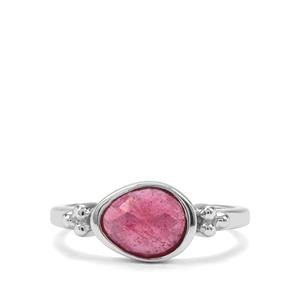 1.42ct Malagasy Ruby Sterling Silver Ring (F)