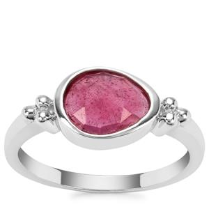 Malagasy Ruby Ring in Sterling Silver 1.42cts (F)