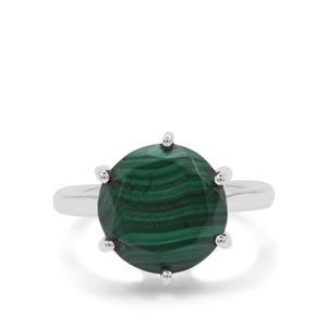 Malachite Ring in Sterling Silver 6.35cts