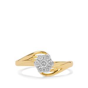 Diamond Ring in 18K Gold 0.33ct