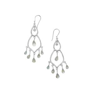 Mozambique Aquamarine Earrings in Sterling Silver 17.30cts