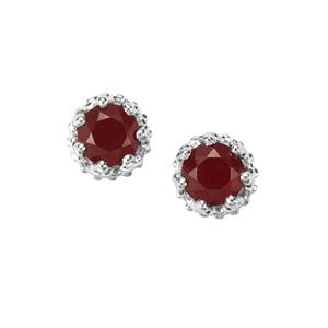 Malagasy Ruby Earrings in Sterling Silver 2.65cts (F)