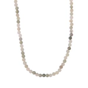 Burmese Jade Slider Necklace in Sterling Silver 66.40cts
