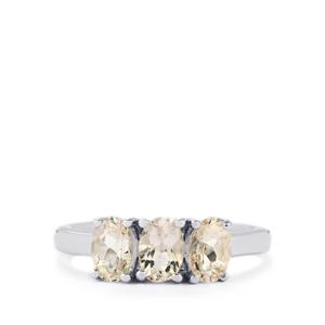 Zambezia Morganite Ring in Sterling Silver 1.35cts