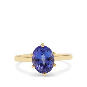 AAA Tanzanite Ring in 18K Gold 3.24cts