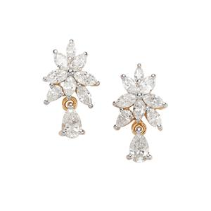 Fancy Diamond Earrings in 18k Gold 1.25ct