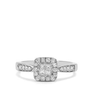 1/2ct Diamond Platinum 950 Ring