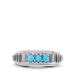 0.35ct Sleeping Beauty Turquoise Sterling Silver Ring