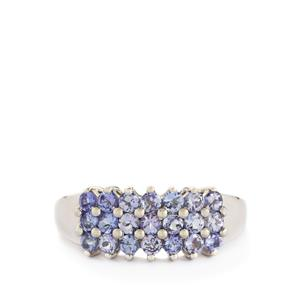 1.11ct AA Tanzanite Sterling Silver Ring