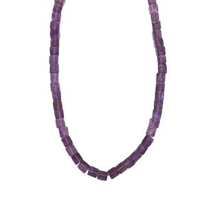 139ct Zambian Amethyst Sterling Silver Graduated Bead Necklace