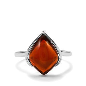 3.88ct American Fire Opal Sterling Silver Ring