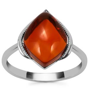American Fire Opal Ring in Sterling Silver 3.88cts