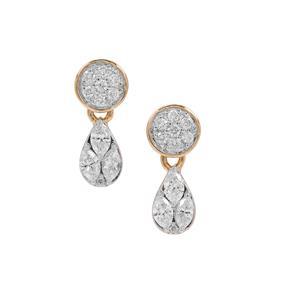 GH Diamond Earrings in 18K Gold 0.51ct