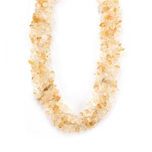 Rio Golden Citrine Necklace in Sterling Silver 482cts