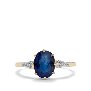 Santorinite™ Blue Spinel & White Zircon 9K Gold Ring ATGW 2.18cts