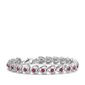 Cruzeiro Rubellite Bracelet in Sterling Silver 2.44cts