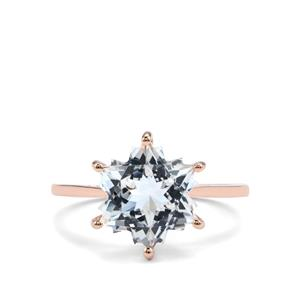 White Topaz Wobito Snowflake Ring in 10K Rose Gold 5.50cts