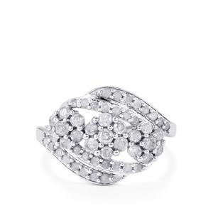 Diamond Ring in 9K White Gold 1ct